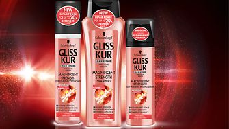 Innovations Q2/2016: With the new product line Gliss Kur Magnificent Strength, the hair repair experts at Gliss Kur have filled a gap in the hair care market, offering a range specifically for lackluster, weakened hair.